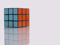 Rubik s cube solved one of the world top selling puzzle game Royalty Free Stock Images
