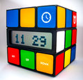 Rubiks Cube Clock Royalty Free Stock Photo