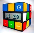Rubiks Cube Clock Royalty Free Stock Photo