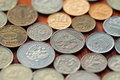 Ruble coins beautiful background of Stock Photography