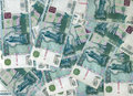 Rubles background Stock Photos