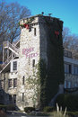 Ruby Falls sign on stone at Christmas in Tennessee. Royalty Free Stock Photo