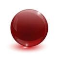 Ruby glassy ball