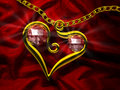 Ruby Heart Stock Photos