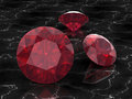 Ruby or Rodolite gemstone Royalty Free Stock Photos