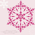 Ruby snowflake Royalty Free Stock Photo