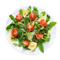 Ruccola salad plate Stock Image