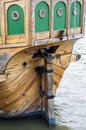 Rudder a on a wooden ship Royalty Free Stock Image