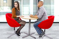 Rude date interracial couple on a bad Royalty Free Stock Photos