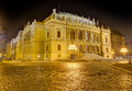 Rudolfinum at night prague czech republic the is a music auditorium in it is designed in the neo renaissance style and is situated Royalty Free Stock Photos