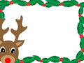 Rudolph In Holly Stock Images