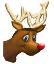 Rudolph illustration Royalty Free Stock Photo
