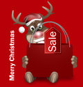Rudolph red nose happy christmas Photos libres de droits