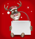 Rudolph red nose happy christmas Foto de Stock Royalty Free
