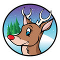 Rudolph the red nose reindeer Stock Image
