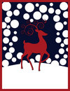 Rudolph Reindeer Christmas Background Stock Afbeelding