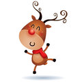 Rudolph Reindeer feeling excited Royalty Free Stock Photo