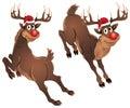 Rudolph The Reindeer Jumping Stock Photos