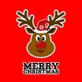 Rudolph reindeer. Merry Christmas.