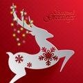 Rudolph Reindeer. Seasons Gree...