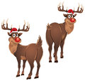 Rudolph The Reindeer Standing Royalty Free Stock Photography