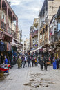 Rue des Merinides in Mellah, jewish quarter, Fez El Jdid. Morocco. Royalty Free Stock Photo