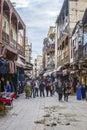 Rue des Merinides in Mellah, jewish quarter, Fez El Jdid. Morocco. Royalty Free Stock Photo