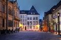 Rue du Marche-aux-Herbes, Luxembourg city Stock Images