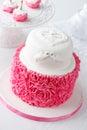 Ruffle style mousse cake pinacolada Royalty Free Stock Photography