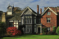 Rufford old hall, rear, Lancashire Royalty Free Stock Photo