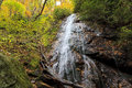 Rufus morgan falls in franklin north carolina in the fall Royalty Free Stock Photo