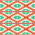 Rug pattern geometric abstract tribal background seamless Stock Image