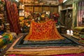 Rug shop in india inside a jodhpur citz rajasthan Stock Photography