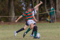 Rugby Action GoalKick Player Royalty Free Stock Image