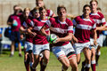 Rugby action of st teams high school players of mature young men between kearsney college and framesby high school at the kearsney Royalty Free Stock Photo