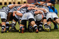 Rugby action of st teams play moments of mature young men between nico malan high school and selborne college at the kearsney Stock Photos