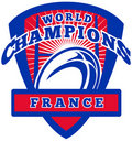 Rugby ball France World Champions Stock Images
