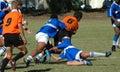 Rugby di azione Fotografia Stock Libera da Diritti