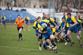 Rugby european nations cup match ukraine odessa teams of ukraine moldova april stadium spartak Royalty Free Stock Photo