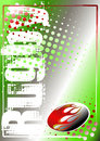 Rugby golden poster background 1 Royalty Free Stock Photography