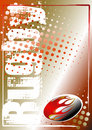 Rugby golden poster background 2 Royalty Free Stock Photo