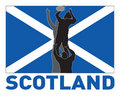 Rugby line-out scotland flag Royalty Free Stock Photos