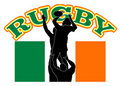 Rugby lineout Ireland flag Stock Image