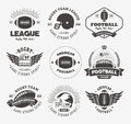 Rugby logo vector colorful set, Football badge logo template