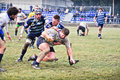 Rugby match Cus Torino Vs Amatori Parma Royalty Free Stock Photo