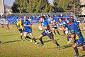 Rugby match Cus Torino Vs Rugby Paese Royalty Free Stock Photography