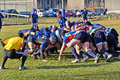 Rugby match Cus Torino Vs Rugby Paese Stock Photos