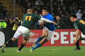 Rugby match Italy vs South Africa - Bryan Habana Royalty Free Stock Images