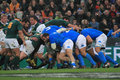 Rugby match Italy vs South Africa - scrummage Stock Images