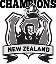 Rugby player champions cup New Zealand Royalty Free Stock Images